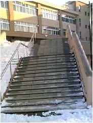 屋外階段雪滑り止めマット
