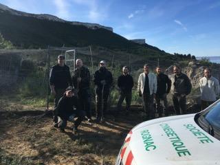 Aménagement de la volière des 2 roches secteur Fauconnière
