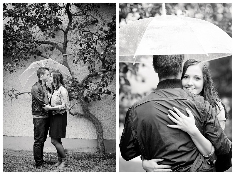 Verlobungsshooting im Regen, Er fragte und sie sagte JA