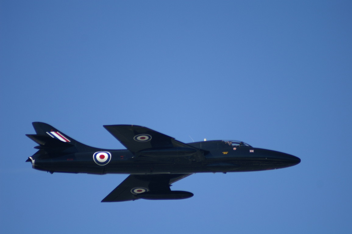 Hawker Hunter jet at the Mudeford Lifeboat Fund Day 2008