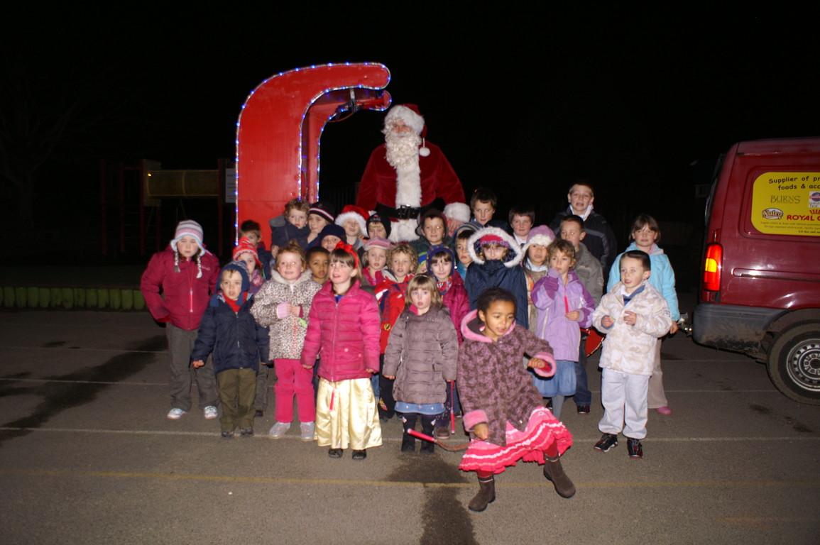 We took Santa to New MIlton Infants School