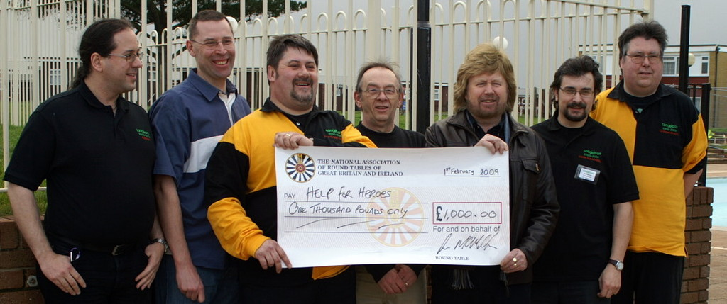 Cheque presentation to Help For Hero's at Conception 09
