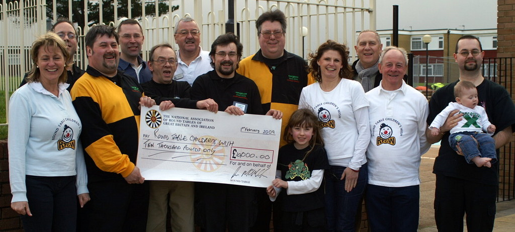 Cheque presentation to Round Tables Children's Wish at Conception 09