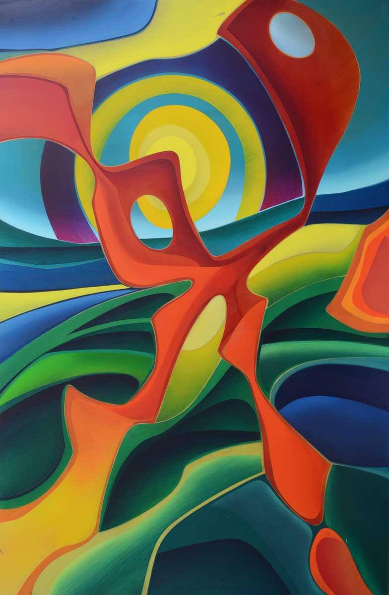 97 x 148 cm, huile sur panneau, 1983, L'autonne