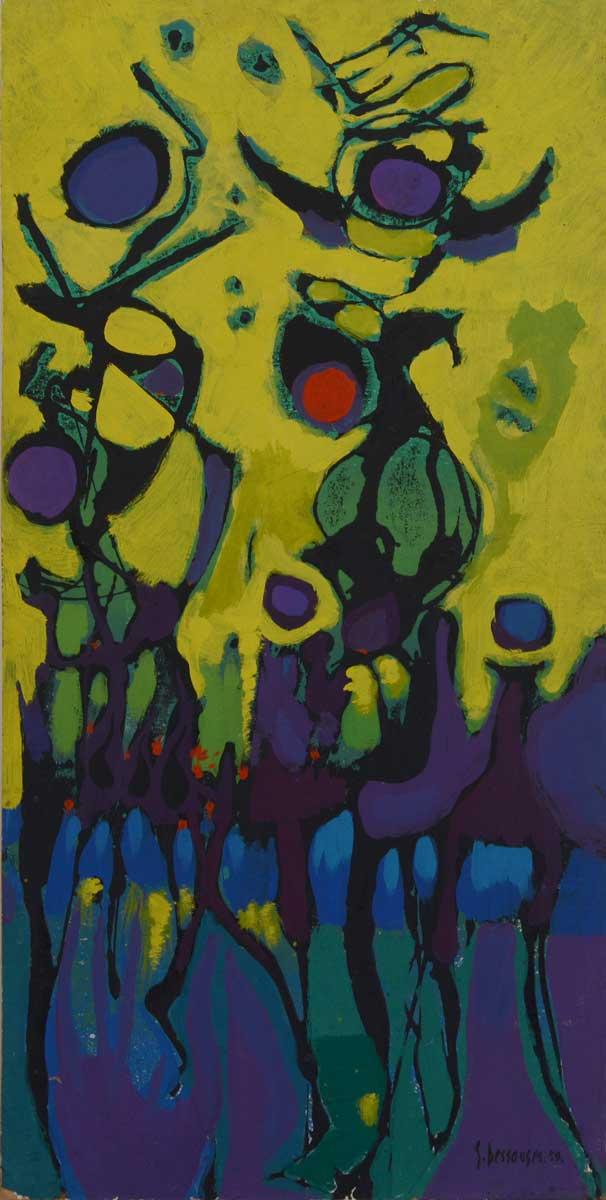 42 x 83 cm, huile sur panneau, 1959