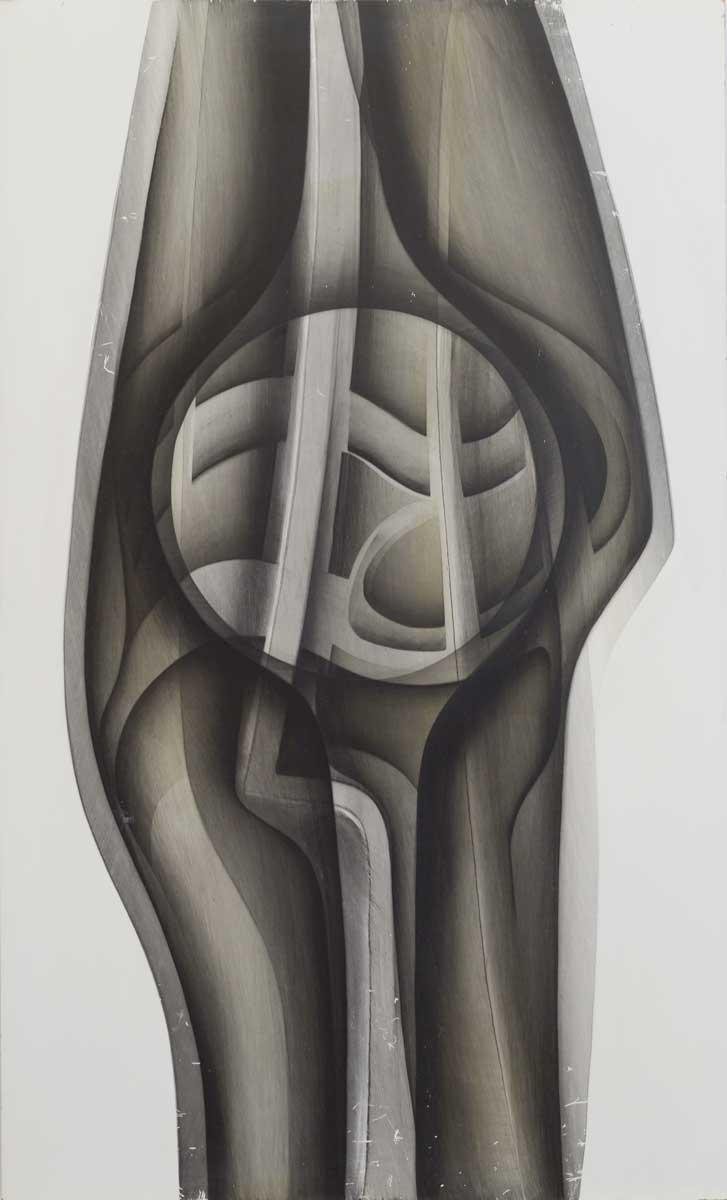 102 x 62 cm, huile sur panneau, 1987