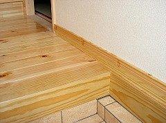 玄関周り部材 上がり框と付け框