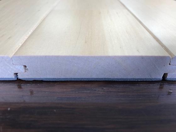 カバ桜直貼用フローリング(BUJ-75)断面図