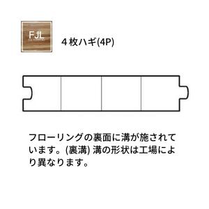 形状についてFJLフローリング断面図