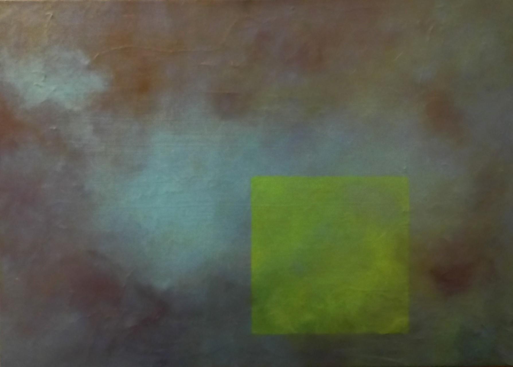Durchs Fenster 60 x 50  Leinwand, Acryl, Pigmente, Spachtelmasse