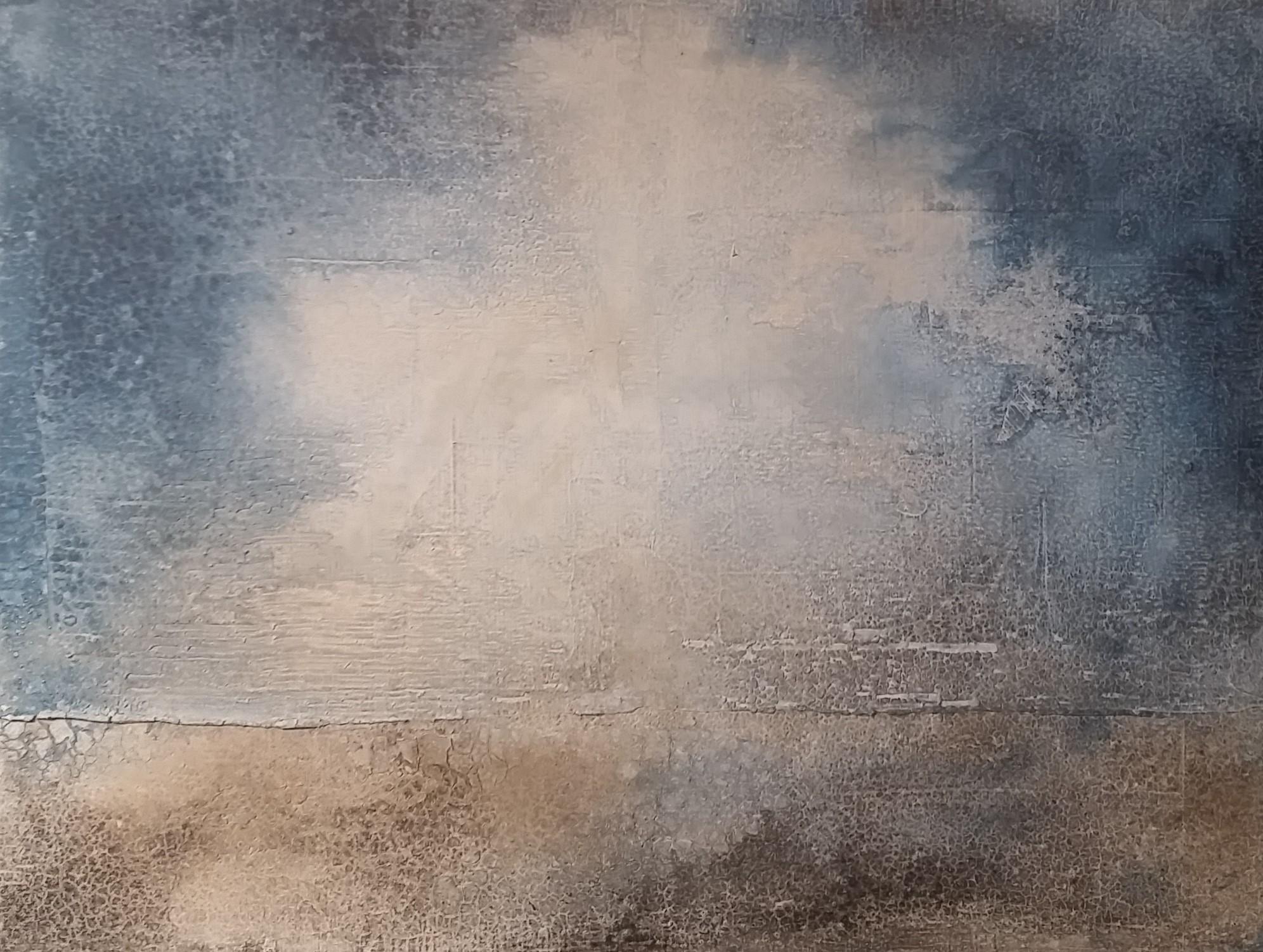 o.T. 60x50 Marmormehl, Tusche, Pigmente