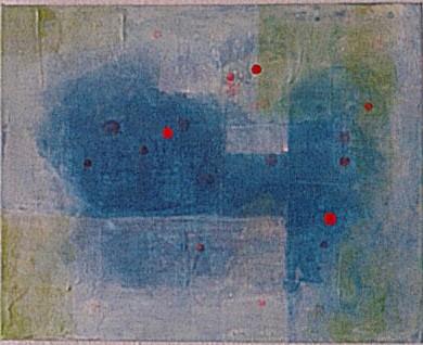 o.T. , 40 x 50, Leinwand, Acryl, Pigmente