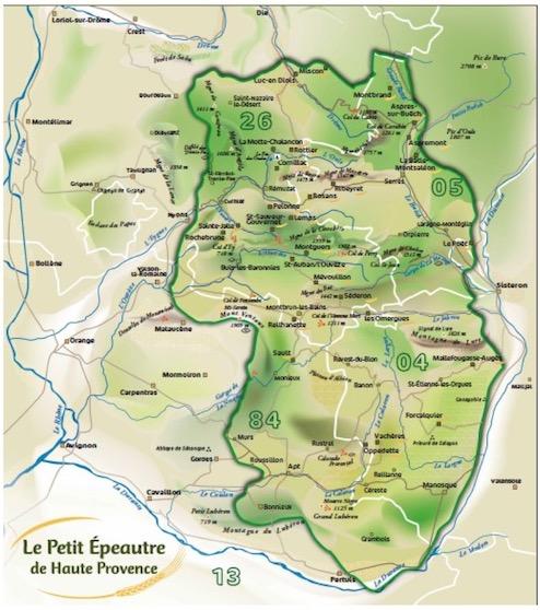 petit epeautre bio de Haute Provence carte IGP