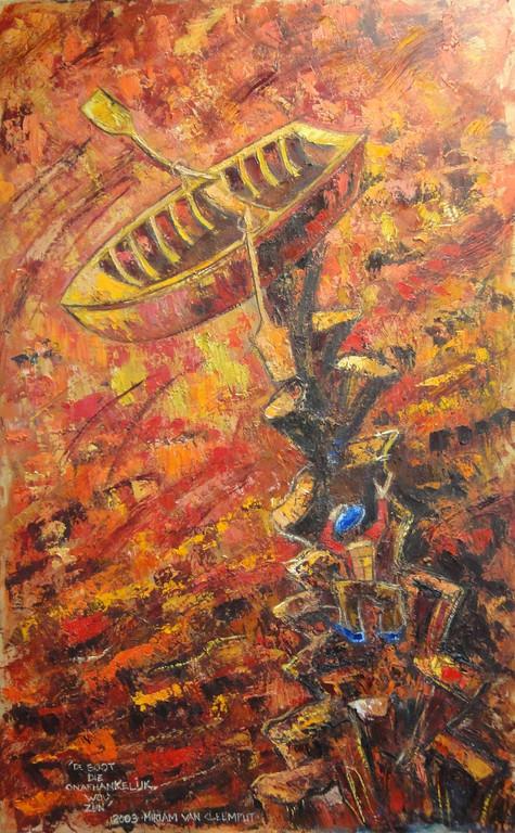 De boot die onafhankelijk wou zijn, 80-130 cm, oil on canvas