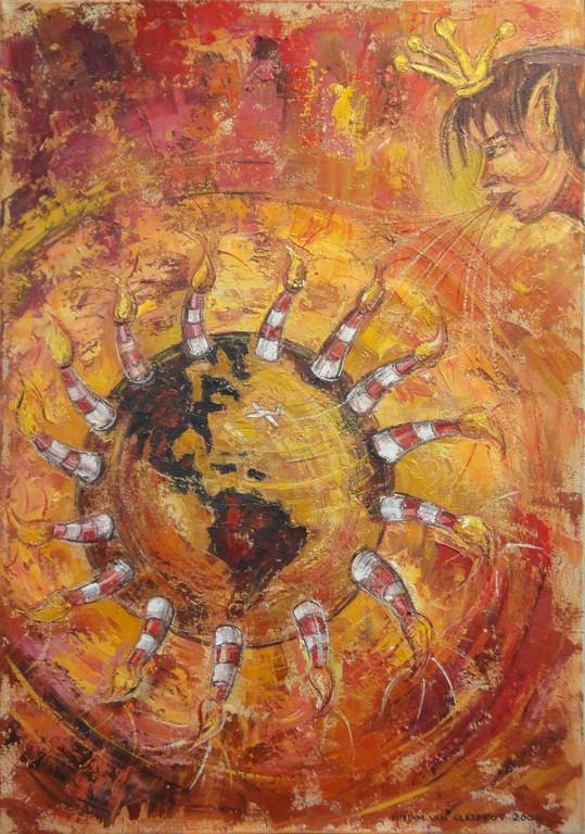 Away.., 60-85 cm, oil on canvas