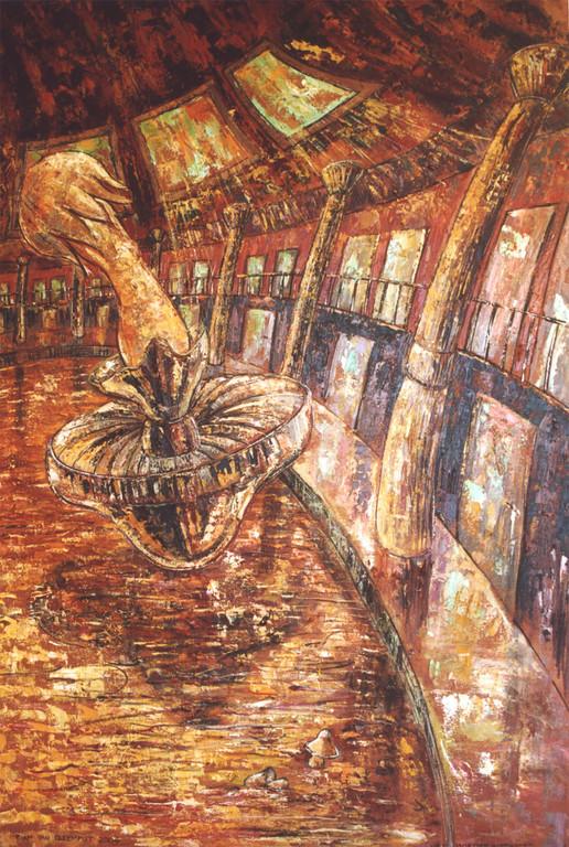 Moederinstinct, 90-140 cm, oil on canvas