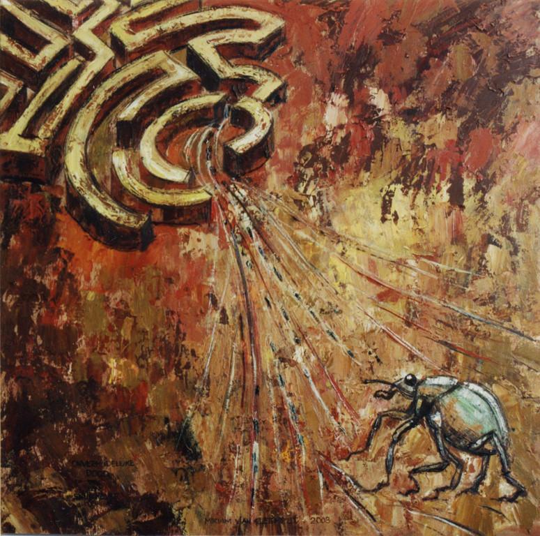 Onvermijdelijke dood van een snuitkever, 85-85 cm, oil on canvas