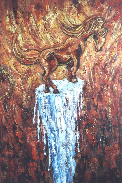 Alles smelt weg, 80-130 cm, oil on canvas