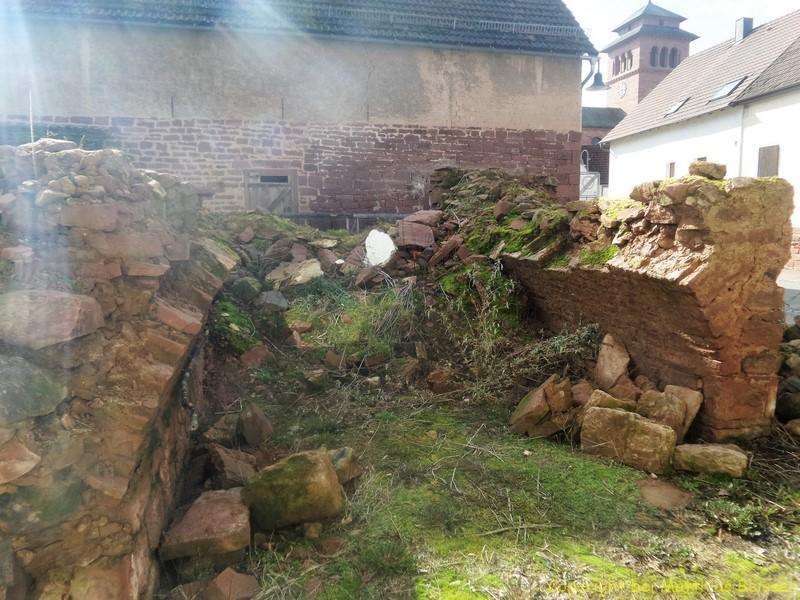 So sollte ich die Ruine 1 zu 1 im Hortus aufbauen.