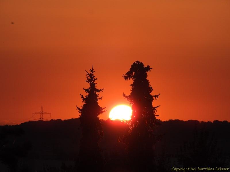 Lass uns in den Sonnenuntergang gehen.