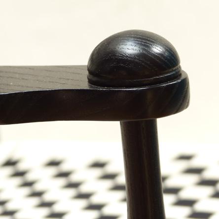 Shaker Schaukelstuhl / Kappe auf Vorderbein