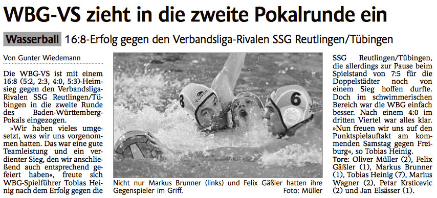 10.11.14 WBG Villingen/Schwenningen vs SSG Reutlingen/Tübingen (POKAL)
