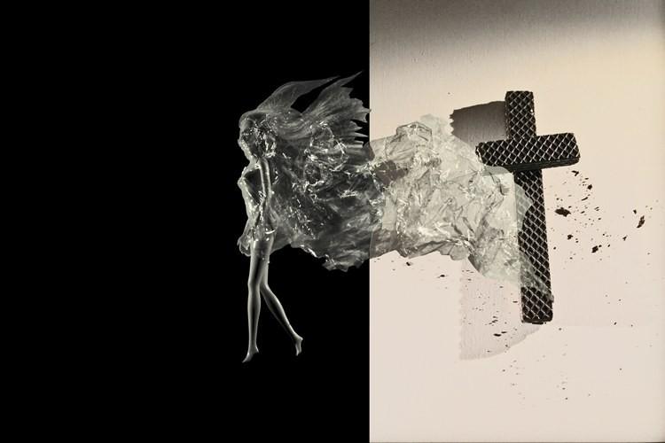 DER AUFBRUCH, 32 x 48 cm, Fotomontage, 2014