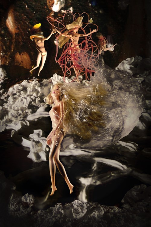 3-FALTIG, 32 x 48 cm, Fotomontage, 2014