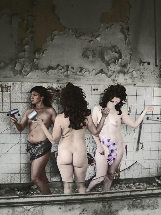 DAS RAD DER ZEIT, 90 x 68 cm, Fotomontage, 2014