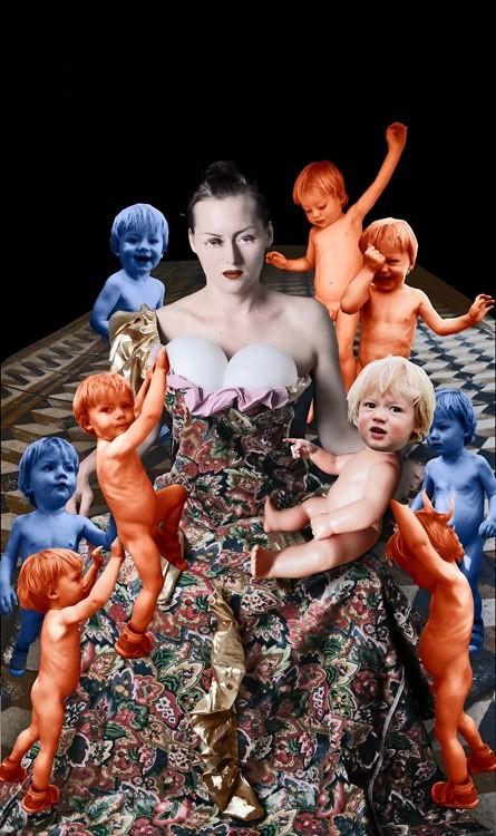 LA FEMME TRAGIQUE?, 30 x 50 cm, Fotomontage, 2015