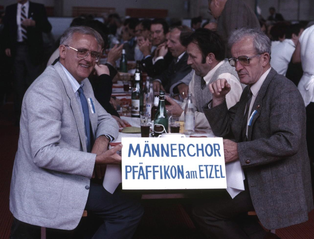 Chorreise und Gesangfest Fleurier 1985