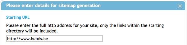XML-Sitemaps vous permet de générer en un clic la liste de tous vos URL's