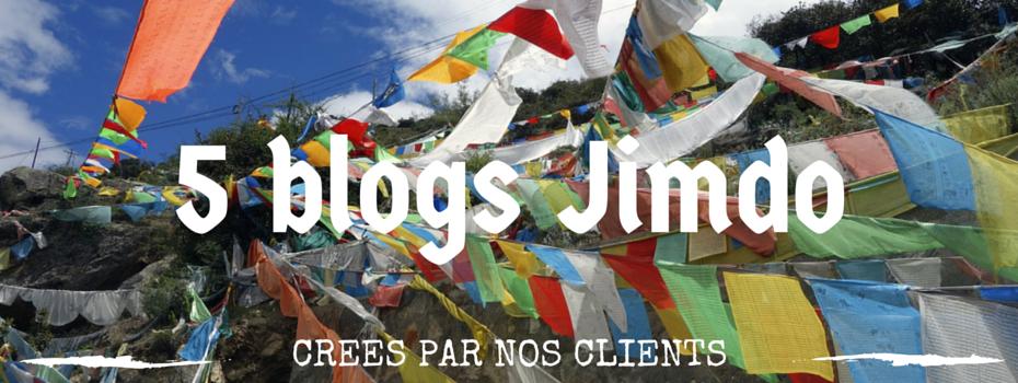 Cinq nouveaux blogs créés avec Jimdo