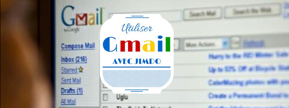 Utiliser Gmail comme messagerie avec un site Jimdo