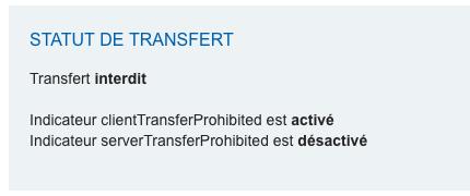 Transfert interdit : à débloquer chez votre Registrar