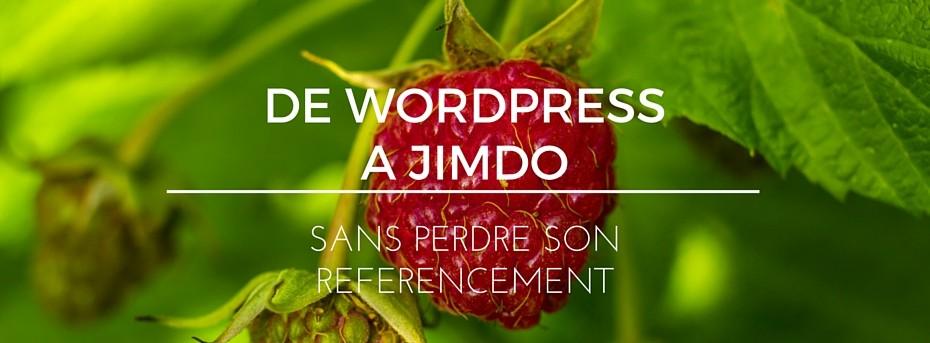 De Wordpress à Jimdo sans perdre son référencement