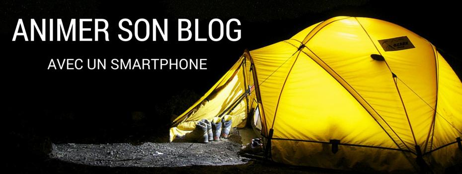 Animer son blog Jimdo avec un smartphone