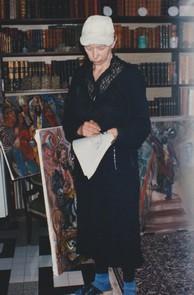 Natta Konicheva au travail