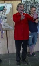 Louis Chabaud pendant le discours du vernissage 2016