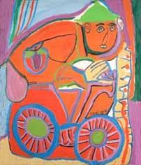 """Chaïbia """"Le cycliste"""" qui avait été choisi pour l'affiche des Ulis"""