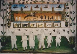 Dans l'atelier de l'artiste, l'auteur salue les visiteurs