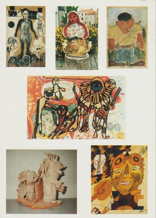L'affiche de l'exposition d'Art hors-les-normes : Marcel Katuchevski Sylvia Katuszewski Pierre Carresse Adam Nidzgorski Michel Smolec Robert Rey