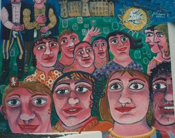 La fresque sur le mur extérieur du musée