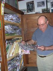 Alain Lacoste dans son atelier