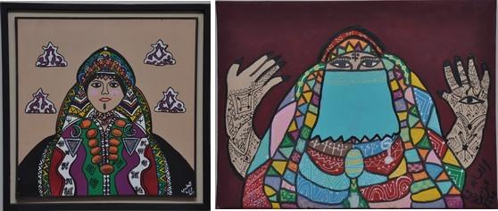 Femme berbère et Femme voilée