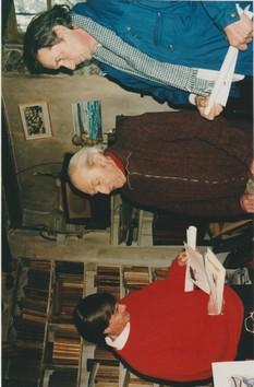 Au centre Gaston Floquet, à droite Michel Smolec, à gauche Jean Evrard