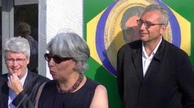 Dominique pendant le discours d'inauguration du musée