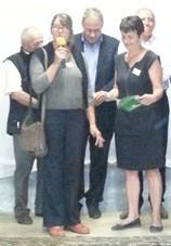 Christine Lemaire disant son bonheur d'avoir été choisie comme Invitée d'Honneur