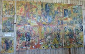 La fresque telle que présentée au Grand Baz'Art à Bézu