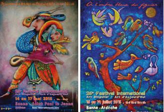 Les affiches du XXVe et XVIe festivals